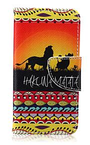 hakuma matata lion king modello cuoio dell'unità di elaborazione caso tutto il corpo con la protezione dello schermo e supporto per iPod