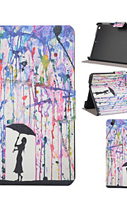 Rain Girl Pattern PU Leather Full Body Case with Stand Slot for iPad mini/iPad mini 2/iPad mini 3