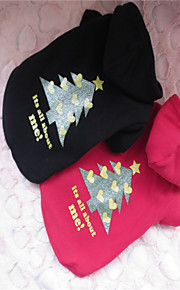 Holdhoney Red/Black Christmas Tree Conjoined Polar Fleece Hoodies For Pets Dogs (Assorted Sizes, Colors) #LT15050234