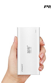 Pisen Portable Power 10000mAh Updated Version External Backup Battery Power Bank for iPhone, iPad and Smart Phones