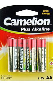 Camelion Plus Alkaline Primary Batteries Size AA (4pcs)