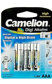 Camelion Digi Alkaline Primary Batteries Size AAA (4pcs)