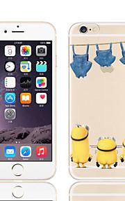 gelb Leute Muster TPU weichen Telefonkasten für iphone 6 / 6S