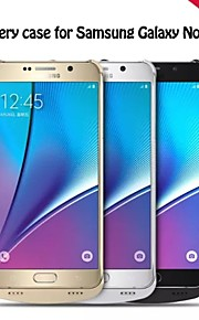mossa wireless caricabatterie cellulare guscio posteriore batteria stecca per Samsung colori assortiti Nota5