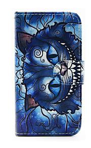 sininen kissa kuvio PU nahka puhelin kotelo Samsung Galaxy J1 (2016) / galaxy J5 (2016)