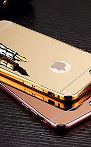 plating speil tilbake med metallramme telefon tilfelle for iphone 6plus / 6s pluss (assorterte farger)