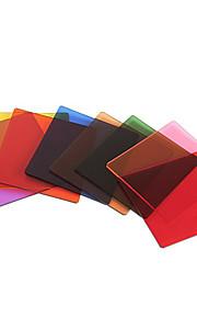 8pcs komplet firkantet fuld farve linse nd filter kit til COKIN p-serien