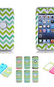 modello modello d'onda di alta qualità a scatto silicone pc + ibrido della copertura della cassa dell'armatura combinata per iPod touch 5
