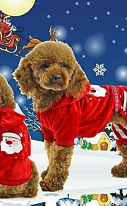 FUN OF PETS® Lovely and Charming Red Santa Claus Pattern Jumpsuits Dog Christmas Winter Clothes