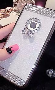 lady®elegant / personlighed telefon sag / cover til iPhone 6 / 6s (4.7), dekoreret med diamanter og silikone meterial telefon sag