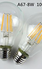 1 stuks BELF E26/E27 8 W 6 Krachtige LED 1000LM LM Warm wit A60 Dimbaar / Decoratief Bollampen AC 220-240 V