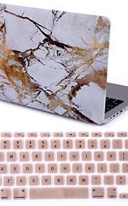 """2015 새로운 흰색 대리석 하드 케이스 커버 + 맥북 용 키보드 커버는 13.3 프로 """"/15.4"""""""