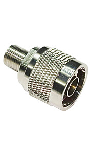 DearRoad N Male Plug to F Female Jack RF Coaxial Adapter Connector Zinc Alloy 75-5 for Signal Repeater Amplifier Cable