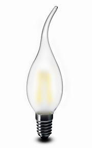 1 pcs SHENMEILE E14 2 W 2 COB 200 LM Warm White CA35 Decorative Candle Bulbs AC 220-240 V