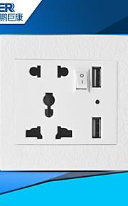 usb opladen socket goed (gesneden witte wereldwijde universele)