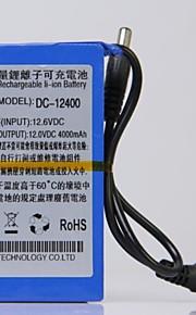 12V High Capacity Multi-purpose Rechargeable Lithium Backup Battery (4000mAh)