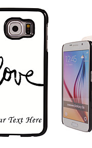 Personalized Case - Love You Design Metal Case for Samsung Galaxy S6/ S6 edge/ note 5/ A8 and others