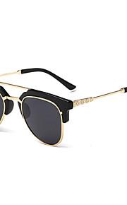 Solbriller kvinder's Moderne / Mode Øjenbrunslinje Sølv / Guld Solbriller Halvkant