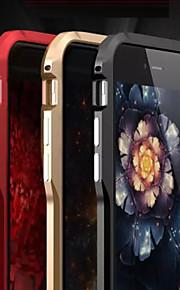bladet metallramme frostet aldri falme anti flerfarget grensen for iphone 6/6-ere (assorterte farger)