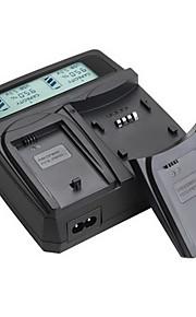 lvsun® camcorder dubbele lader met LCD-scherm snel opladen voor Sony