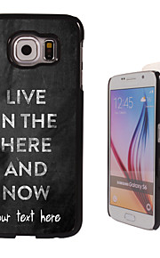 Personalized Case - Live in the here and there Design Metal Case for Samsung Galaxy S6/ S6 edge/ note 5/ A8 and others