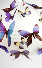 3D Wall Stickers Autocolantes 3D para Parede , PVC 2pcs 13.5x11.8cm /4pcs 10.4x9.2cm/ 4pcs 7.8x6.7cm / 8pcs 6 x 5.2cm