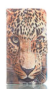 leopard mønster pu skinn malt telefon tilfelle for Galaxy S3 / S4 / S5 / S6 / s6edge / s3 mini / s4 mini / s5 mini