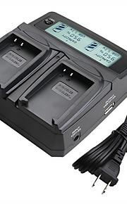 lvsun® camcorder dubbele lader met LCD-scherm snel opladen voor Nikon el23