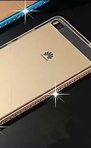 TPU med en metallram med en metallram för att skydda Huawei p8 mobiltelefon
