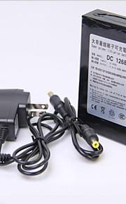 12v hoge capaciteit multifunctionele oplaadbare lithium back-up batterij zwart (6800mAh)
