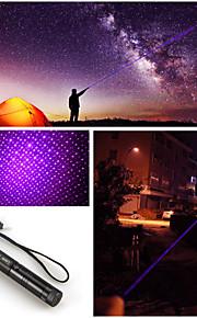 Adjustable Focus 303 Blue violet Laser Pointer Pen 5mw 405nm High Power +Holster
