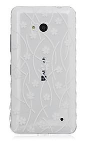 Caja floral del teléfono del tpu material modelo para Nokia N640