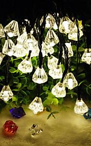 6.5m 30led solar diamant krystall streng lys fin jul hage decortation lights