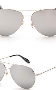 Solbriller kvinder's Moderne / Mode / Pilot Oval Sølv / Guld Solbriller Kantløs