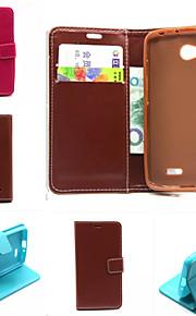 de cuero de la PU de los casos la tarjeta de color sólido cartera ranura con soporte casos cuerpo completo para LG estilo g3 (color