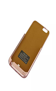 3800mAh eksternt bærbare backup batteri Case for iPhone 6s / 6 rosa guld