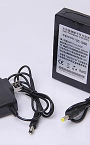 12v høj kapacitet multi-purpose genopladelige lithium backup batteri sort (4000mAh)