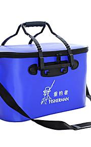 Fisherman Waterproof Foldable Fishing Bucket Fishing Tackle Box 35*24*24cm