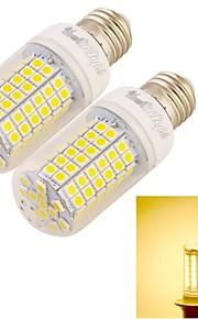 YouOKLight® 2PCS E27 25W 2200LM 96*SMD5050 3000K Warm White CRI>80 LED Corn Bulbs Lamp (220-240V)