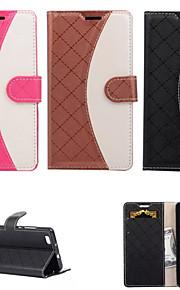 pu läder hela kroppen fall fall med stativ plånbok blandad färg fall för Huawei P8 lite
