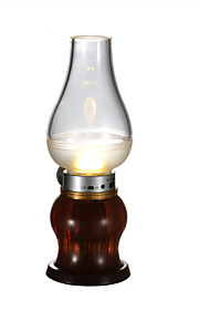 youoklight 0.6w נטען רטרו 40lm מלא נושבת לבן חם הוביל מנורה - usb הלבן שקופה + אדום