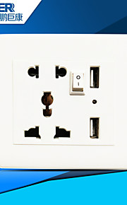 usb opladen socket goed (wit)