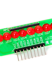 8-LED Red Light Strip Microcontroller Module - Green + Red