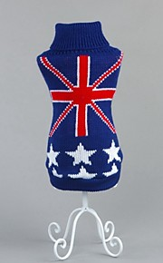 FUN OF PETS® Fashion Dark Blue The Union Jack and Stars Pattern Dogs Clothes for Puppy Pets Dogs (Assorted Sizes)