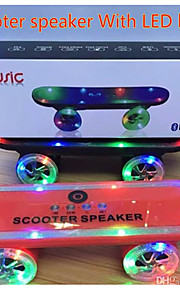 2015 Newest Christmas Gift Skateboard Bluetooth Wireless Scooter Speaker Mobile Audio Mini Portable Speakers