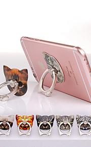 supporto autoadesivo anello di metallo di disegno della testa del gatto per Samsung e iPhone (colore casuale)