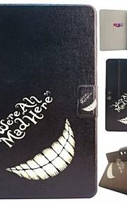 lachen tanden patroon pu lederen full body case met standaard en kaartslot voor Kindle Fire HDX 8.9