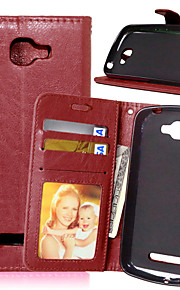 PU Leather Card Holder Wallet Stand Flip Cover With Photo Frame Case For Alcatel Fierce 2 7040T(Assorted Colors)