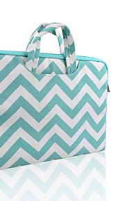 loelmall ® tragen Laptop-Hülle Canvas-Gewebe von 13 bis 13,3 Zoll (Aktenkoffer grünen Streifen)