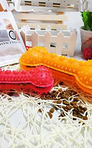 Cães Brinquedos Interativo Osso / Alimentador Automático Borracha Vermelho / Azul / Amarelo